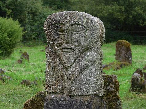 Carved figure from Boa Island, Co Fermanagh