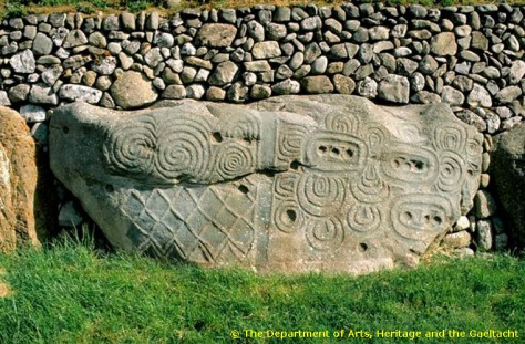 Kerbstone 52 . Courtesy of Department of Arts Heritage and Gaeltacht; Ireland.