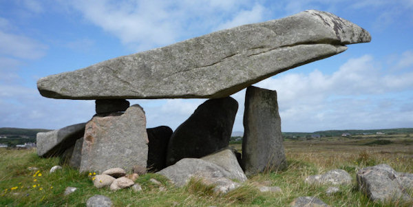 Dolmen from Kilclooney Co Donegal.