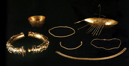 The Broighter Hoard including the Broighter Collar and the Broighter Boat