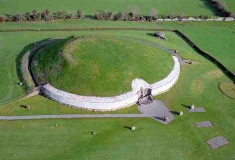 Aerial view of Newgrange. Courtesy of the Office of Public Works ( OPW).