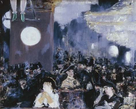 Background detail; A bar at the Folies Bergére
