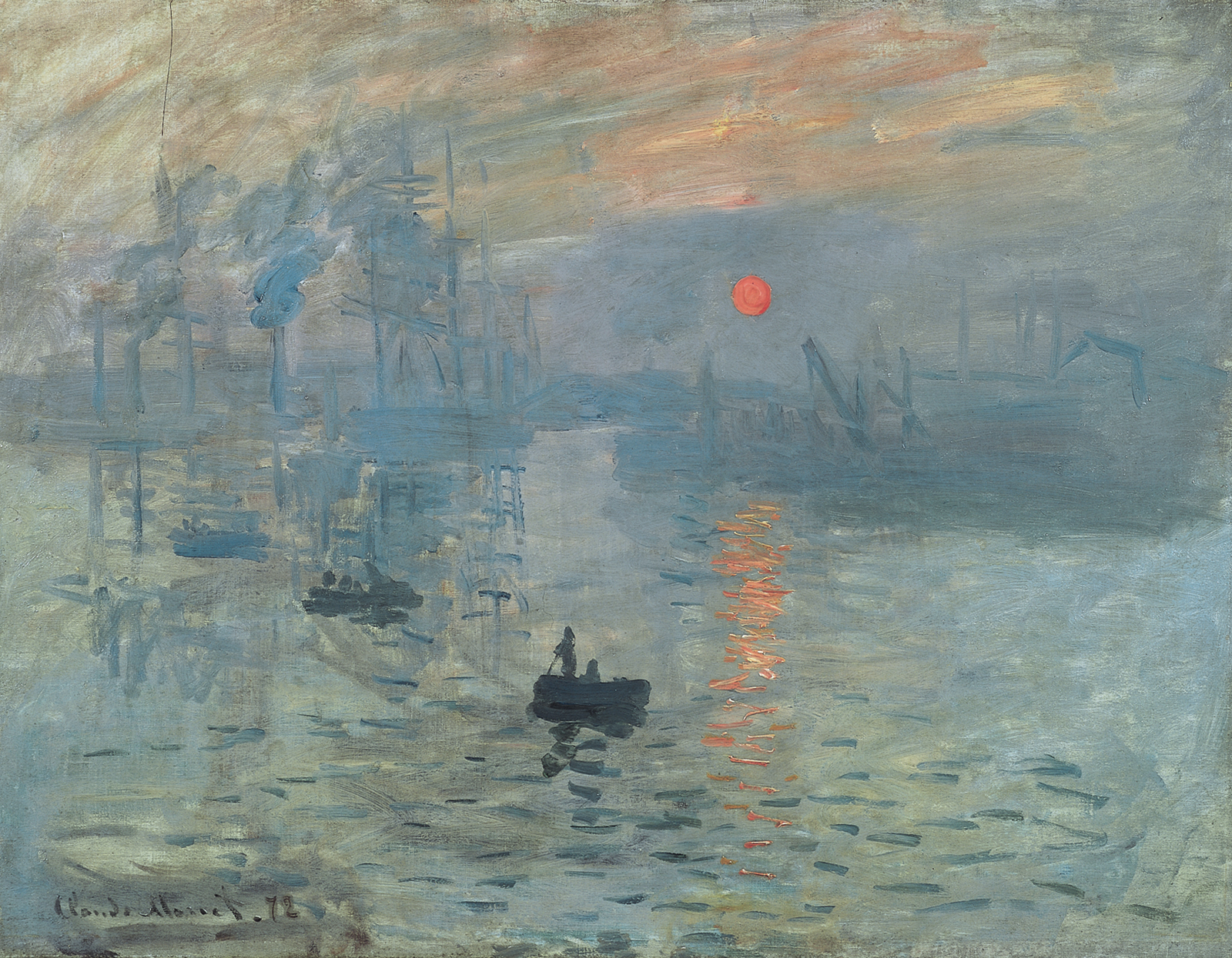 impressionism art history leaving cert impression sunrise by claude monet 1872