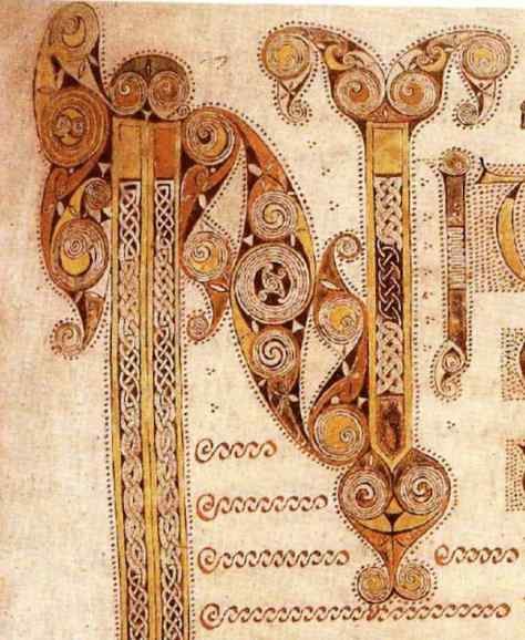 Detail of Initial of Mark; Book of Kells