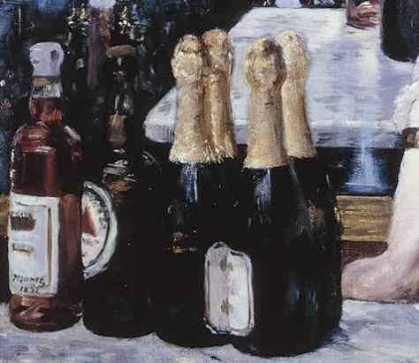 Foreground detail ;A Bar at the Folies Bergére