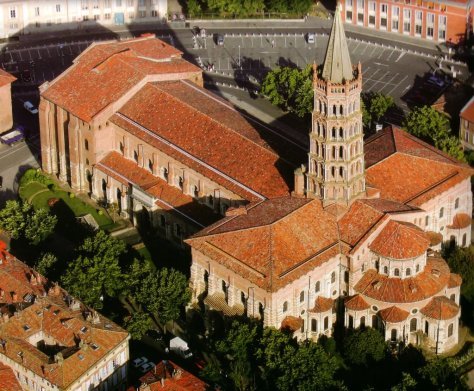 Aerial view of St Sernin's