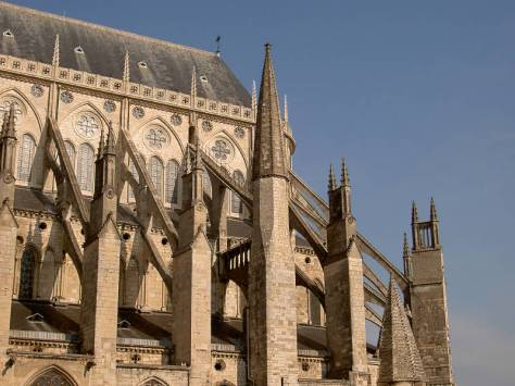 Flying Buttresses; Sainte Chapelle, Riom.