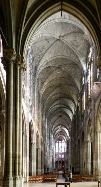 Ribbed Vaults in the Nave of St Denis, Paris