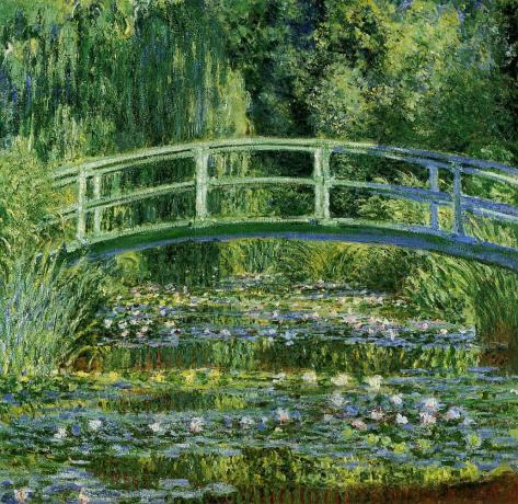 Water Lilies and Japanese-Bridge-(1897-1899)Monet