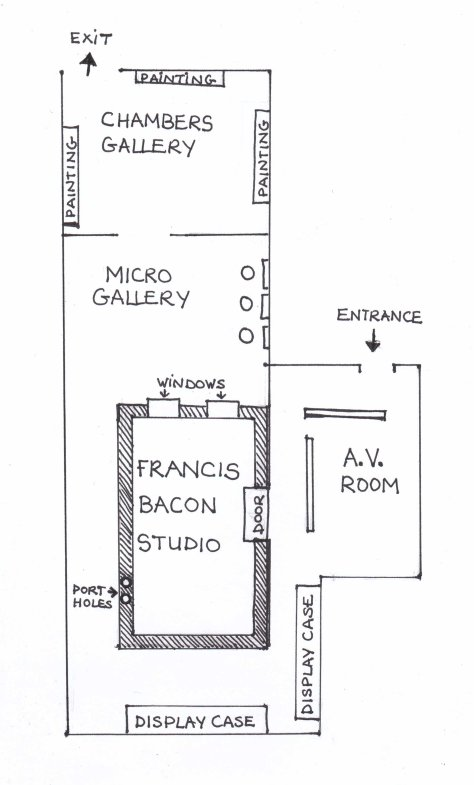 Floorplan of Francis Bacon Studio